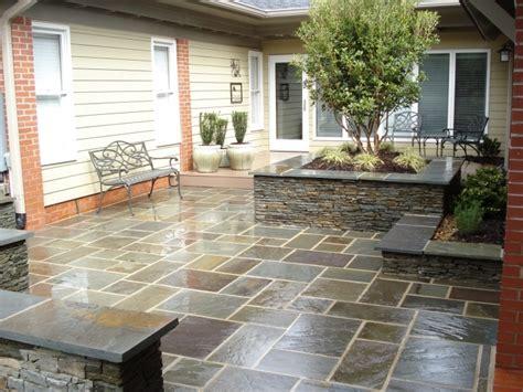 stylish blue stone patio dry stone home decor ideas blue