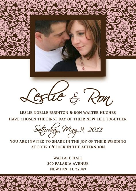 E Wedding Invitation Templates by Wedding Invitation Template Invitation