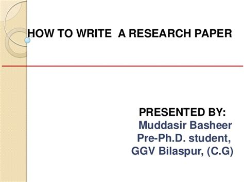 how to write an effective research paper how to write a research paper