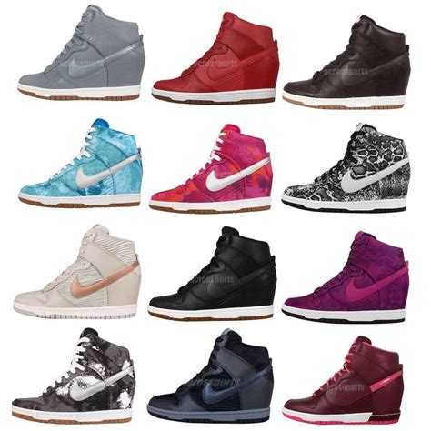 running shoes with high heel wmns nike dunk sky hi print nsw womens wedge sneakers