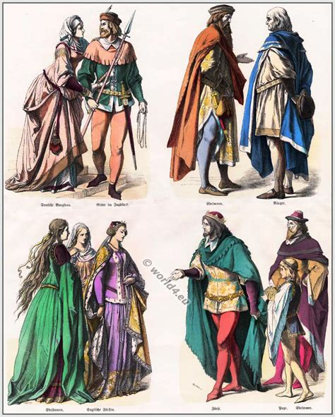 12th Century Renaissance Essay by German And Costumes 14th Century Pictorial History Of Costume