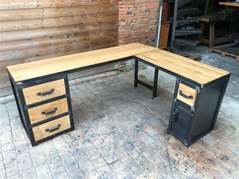 Bureau D Angle Style Industriel by Tables Industrielle Sur Mesure Et Sur Commande En Bois M 232 Tal