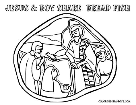 coloring pages of fish and bread 5 loaves 2 fish coloring page coloring home