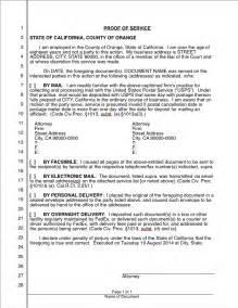 proof of service california iwork lawyer