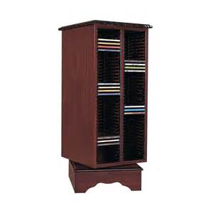 Cd Dvd Storage Units Mahogany Carousel Cd Storage Unit Furniture Stores