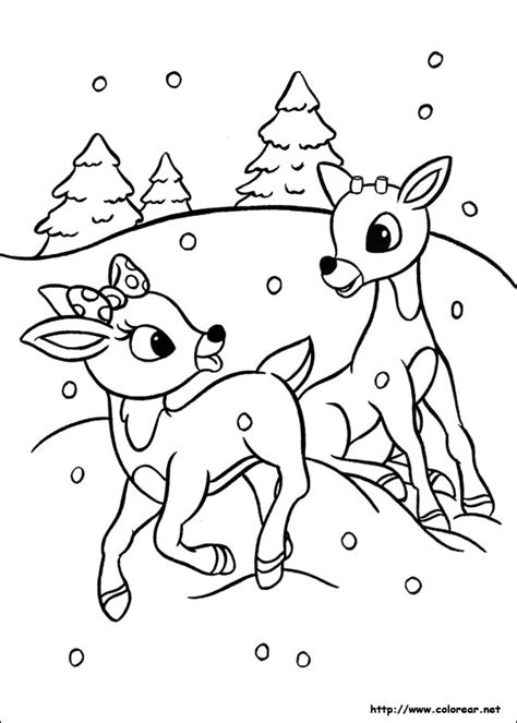 Free Coloring Pages Of Rudolph Rudolph Color Page