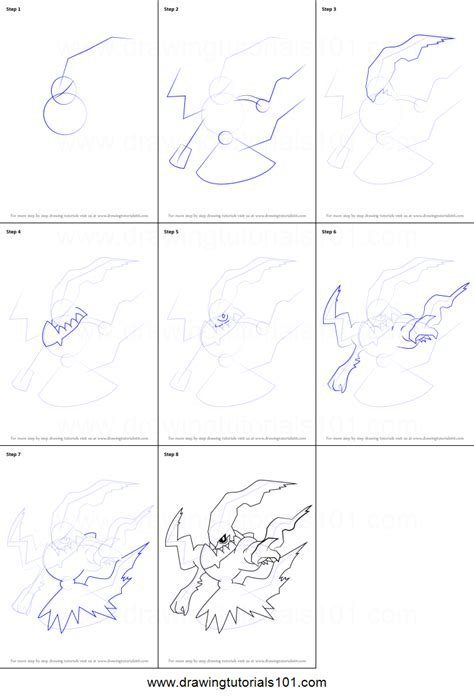 how to make doodle on how to draw darkrai from printable step by step