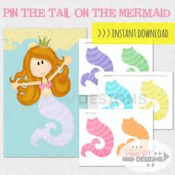 Pin The On The Mermaid Template by Pin The On The Mermaid Instant By