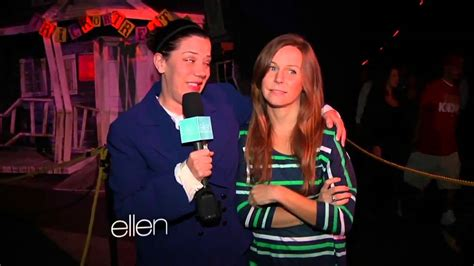 ellen degeneres assistant amy and jeannie at a haunted house youtube