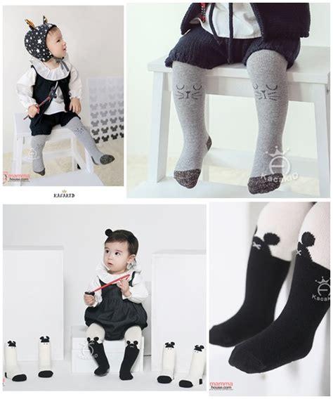 Baby Legging Bayi Korea Balita Cat baby hose korean knitted cat grey or mickey black