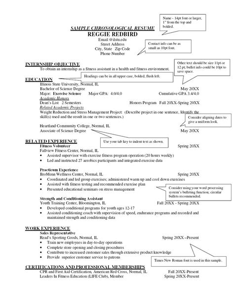 Chronological Resume by Free Chronological Resume Template Http