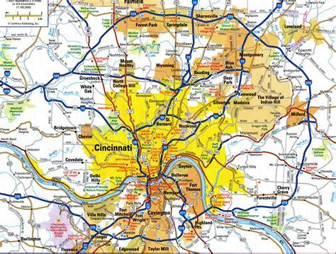 map of usa cincinnati cincinnati