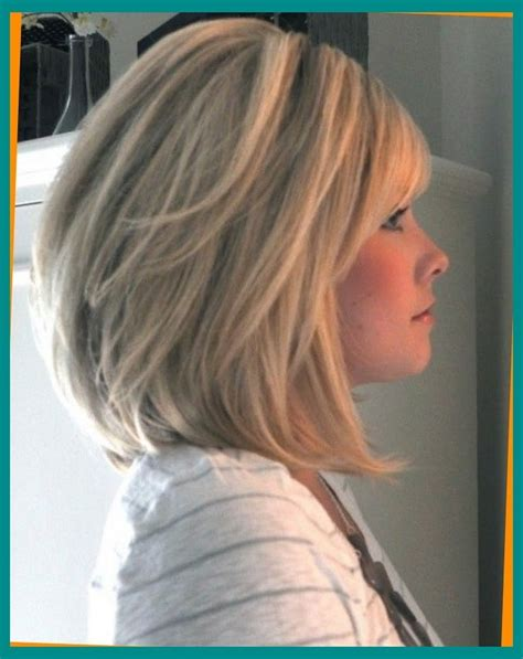 med length bob graduated layers shoulder length bob with heavy bangs hair colors that