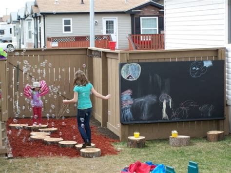 backyard play area 15 cool outdoor chalkboard walls for kids kidsomania