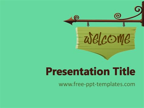 welcome ppt template