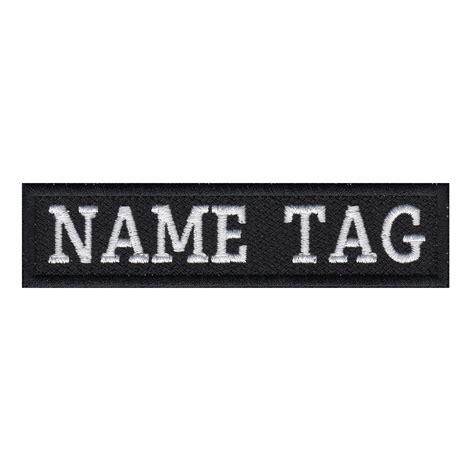 Custome Name 1 custom name tag biker patch 2 x 1