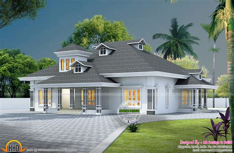 Duplex Style by 3d Floor Plan And 3d Elevation Kerala Home Design And