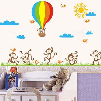 decorative wall stickers for rooms decorative removable 3d monkey wall stickers for baby