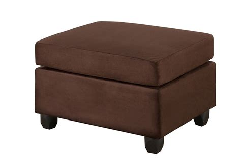 chocolate microfiber ottoman cocktail ottoman chocolate microfiber