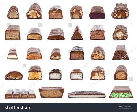 Bar Section by Collection 28 Chocolate Bar Crosssections Showing Stock