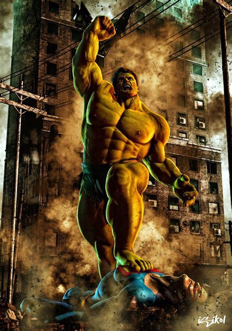 imagenes en 3d marvel the hulk vs superman isikol deviantart com comic art