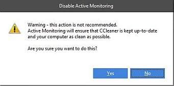 ccleaner active monitoring ccleaner uses system monitoring and quot intelligent cookie