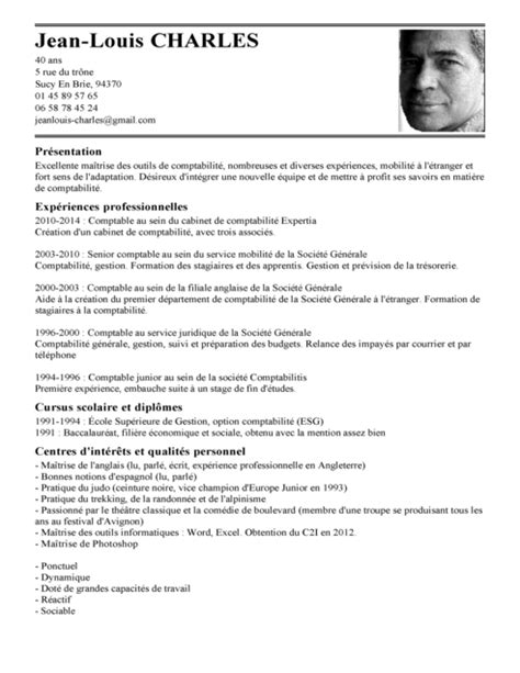 Un Model De Cv by Exemple De Cv Comptable Exemples Mod 232 Les De Cv