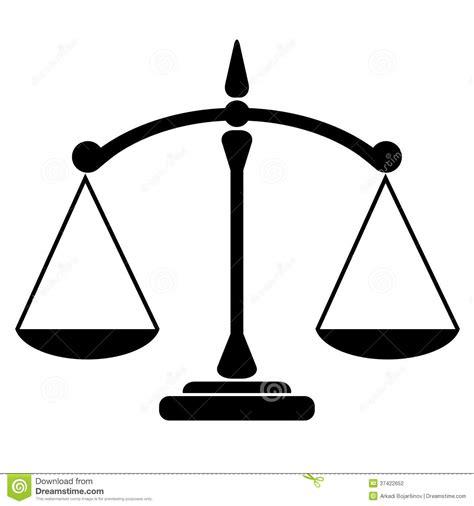 imagenes en blanco y negro de justicia icono de la balanza ilustraci 243 n del vector imagen de