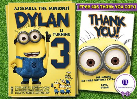 15 Must See Minion Birthday Invitations Pins Minion Party Invitations Despicable Me Party And Minion Invitation Template