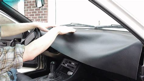 Door Panel Upholstery Material How To Recover A Dashboard Vinyl Leather Youtube