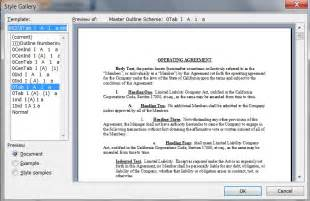 Word 2010 Restart Outline Numbering by Phillip Lemel Paragraph Numbering Template Manager