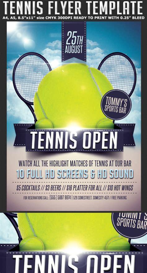 tennis flyer template flyerstemplates