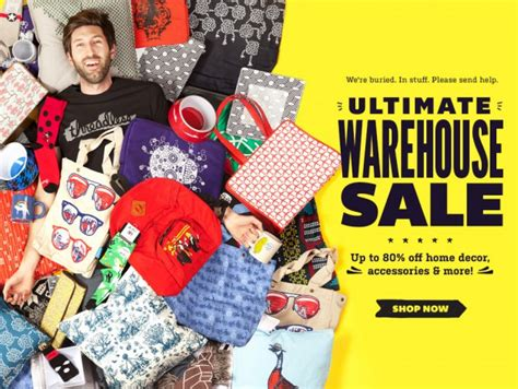 home decorators warehouse sale threadless ultimate warehouse sale 2014 up to 80 off