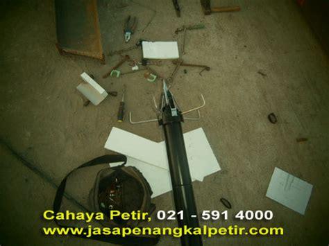 Set Penangkal Petir Konvensional 50 Mtr Kabel Bc 25 jual jasa pasang penangkal petir konvensional radius