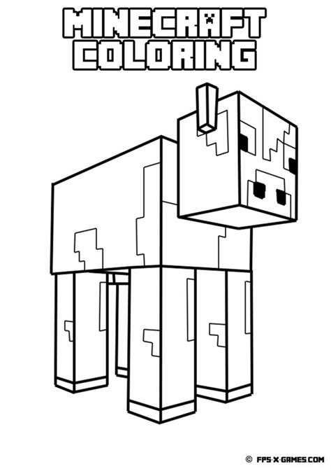 minecraft coloring pages pig coloring pages printable minecraft coloring pages az