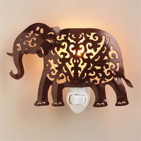 Handcrafted Metal - handcrafted metal elephant light world market