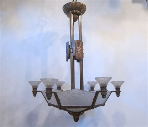 6 Arm Ceiling Light by Six Arm Ceiling By Daum Nancy Exeter Antique Lighting