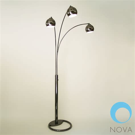 Ohio State Home Decor by Triplet 3 Light Arc Floor Lamp Nova Metropolitandecor