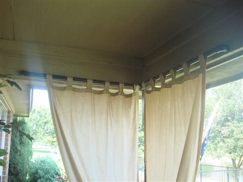 outdoor curtains and rods paint pvc pipe black for outdoor curtain rod a slot was