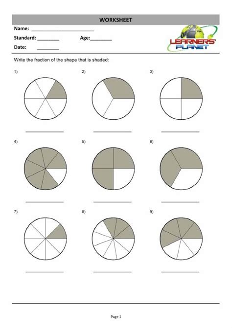Fractions Worksheets Grade 3 by Pictures Fraction Worksheets Grade 3 Dropwin