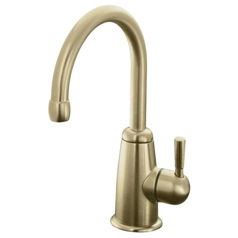 brushed bronze kitchen faucet shop kohler wellspring vibrant brushed bronze 1 handle high arc kitchen faucet at lowes com