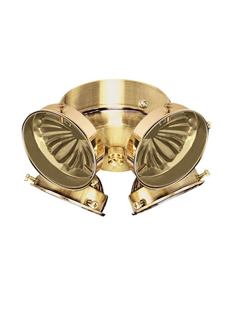 16151b 02 four light ceiling fan light kit polished brass