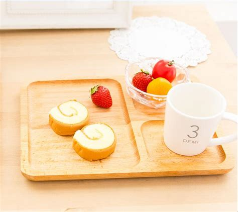serving platters with sections buy 3 sections birch wood unfinished serving tray serving
