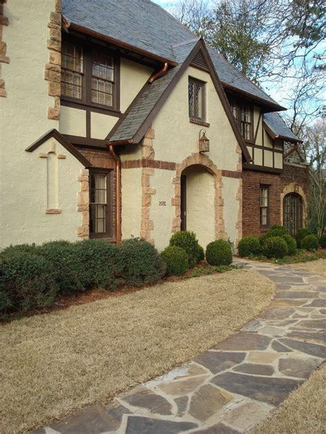 Tudor Style Homes Decorating by Red Brick And Stucco House Exterior Traditional With Red