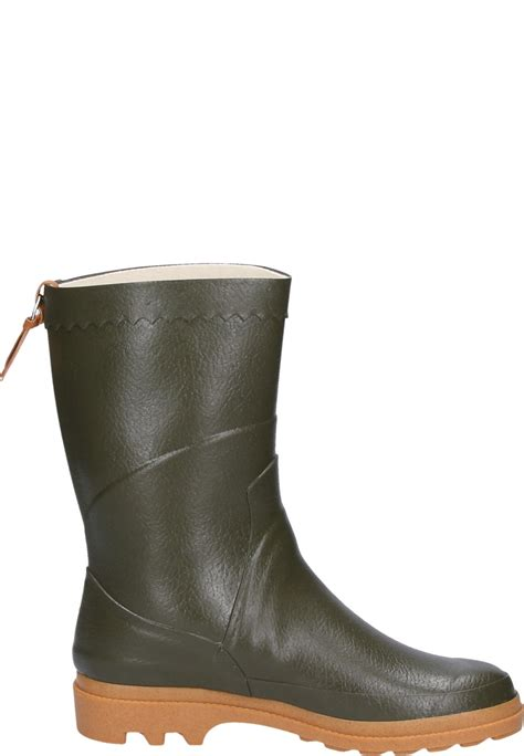 rubber boot height aigle bison khaki rubber boots a half height universal