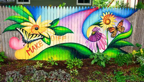 Mural Art In The Garden To Cover Graffiti Shawna Coronado Garden Mural Ideas