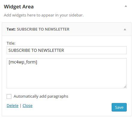 codeigniter tutorial for beginners codexworld mailchimp for wordpress shortcode widget by codexworld