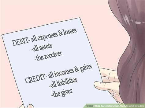 how does it take to make a debit card how to understand debits and credits 7 steps with pictures