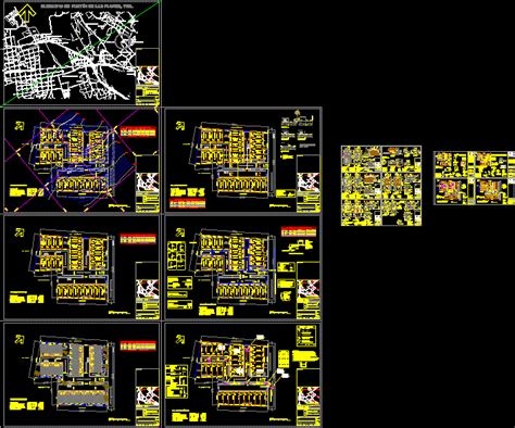 residencial division dwg full project  autocad