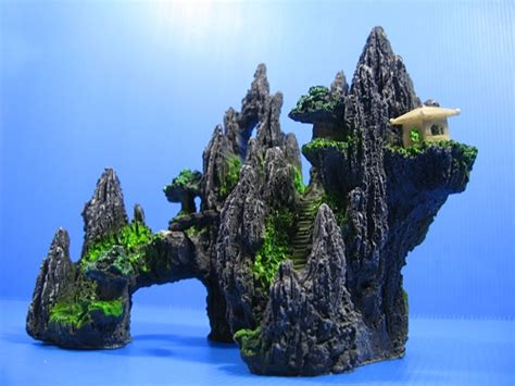 Large Aquarium Decorations by Mountain View Aquarium Ornament Tree House Cave Bridge